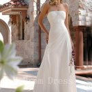 2016 Plus Size Hot Sale Fashionable Strapless White Cheap Long Girl A-Line Wedding Dress