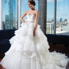 2016 Sexy Long Wedding Dress Woman Sleeveless Sweetheart Bridal Dress Fashion White Wedding Dress