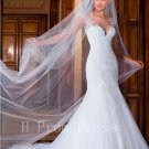 2016 New Sexy See Through Back White Fashion Luxury Beads Plus Size Mermaid Wedding Dress