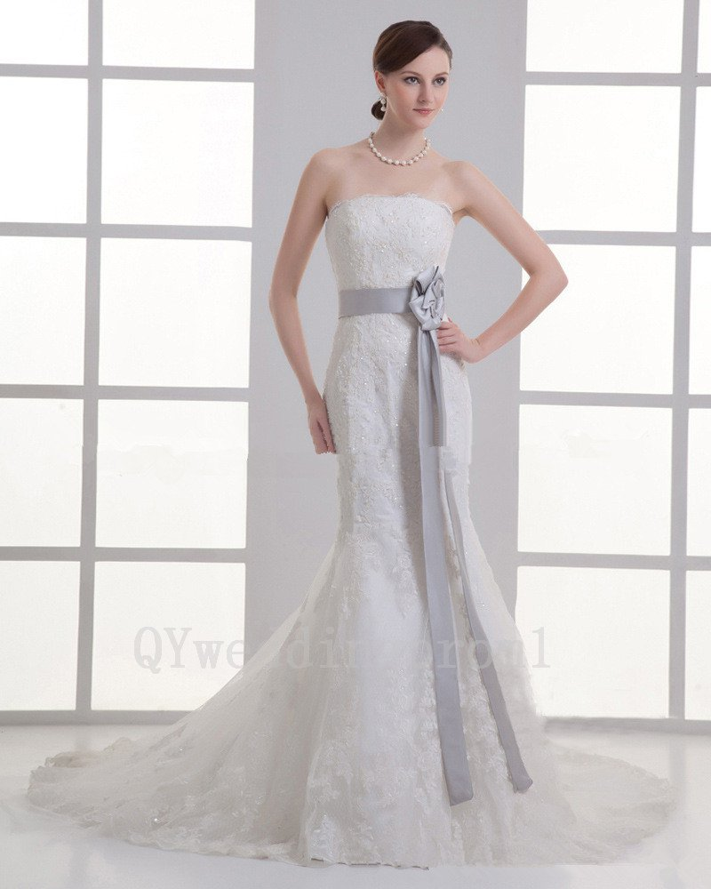 Sexy Backless Lace Wedding Dress Mermaid Romantic White Princess Long Wedding Dress