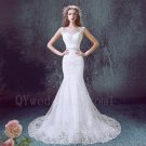 High Quality Custom Made Plus Size Lace Wedding Dress Mermaid Long White Wedding Dress