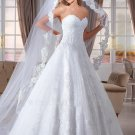 High Quality Lace Wedding Dress Beads Sexy Backless Plus Size A-Line Wedding Dress