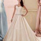 Elegant Wedding Dress A-Line Sweetheart Champagne Romantic Sexy Long Wedding Dress Bride Dresses