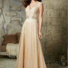 2016 New A-Line Sleeveless Long Black Champagne Lace Mother Of The Bride
