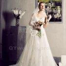 Sexy Lace Wedding Dress Sweetheart Spaghetti Straps Custom Made Romantic White Princess Bride Dress