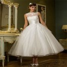 High Quality Ankle-Length White Long Wedding Dress Ball Gown 2016 Sleeveless Wedding Dress