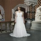 Chiffon Long Wedding Dress Simple Sweetheart Bridal Dress A-Line White Wedding Dress