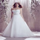 A-Line Floor Length Sweetheart Sleeveless White Chiffon Wedding Dress Lace Up Bridal Gowns