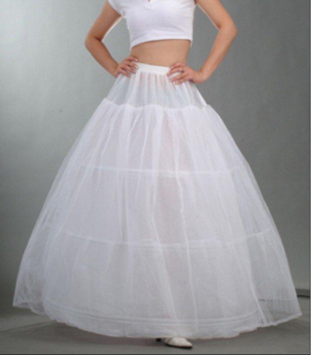 High Quality Three Strands Plus Yarn Wedding Petticoats Three Rims Organza Petticoat for Wedding
