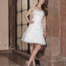 Sexy Short Wedding Dress Appliques Bridal Dress A-Line Fashion White Knee Length Wedding Dress
