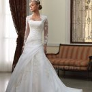 Wedding Dresses Sweetheart White A-Line Backless Romantic Long Sleeve Lace Wedding Dress