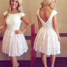 Short Prom Dress Lace Homecoming Dress Red Cheap Short Evening Dress