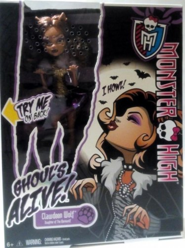 Monster High Ghouls Alive Clawdeen Wolf Daughter of Werewolf Doll