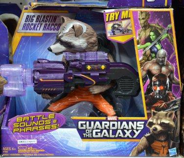 Hasbro Guardians of the Galaxy Big Blastin Rocket Raccoon Figure Battle Sounds