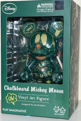 Disney Devilrobots Chalkborad Mickey Mouse Vinyl Art 6 Inch Figure