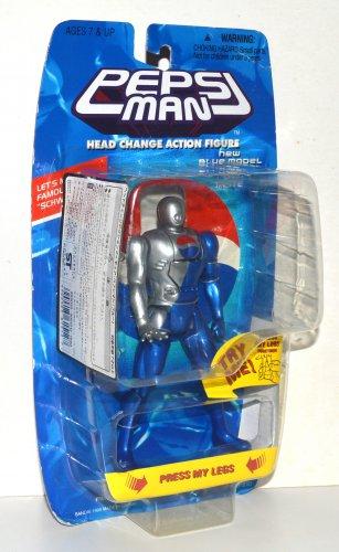 Pepsi Man Head Change Action Figure Blue Model