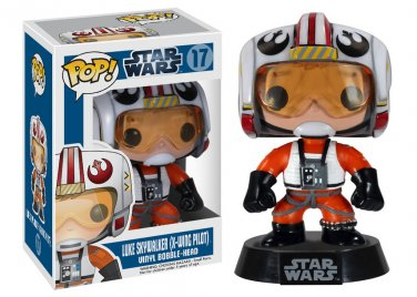 Funko Pop Star Wars Luke Skywalker Pilot Bobble Head Figure #17