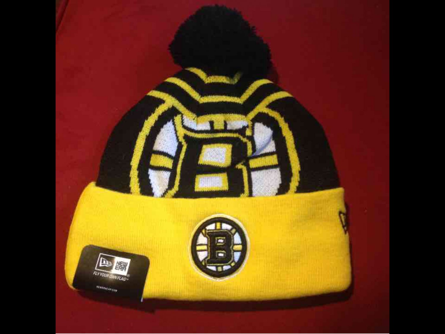New Era Bruins Knit Beanie One Size Fits Most