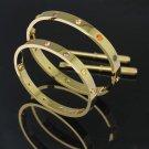 Cartier 18k Yellow Gold W/ Colored Gems Love Screwdriver Bracelet Size 16