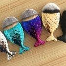 Mermaid Oval Cosmetic Powder Foundation/Blush Brushes