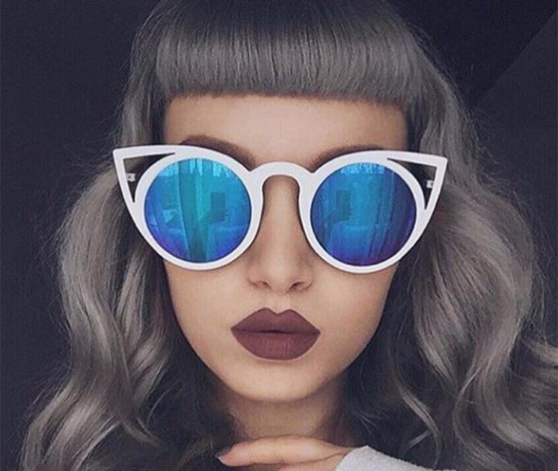 Merry's Womens Cat Eye Alloy Metal Sunglasses