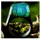 Magic Underwater Wood Resin Ring Women's Sizes 6-9- Endless August