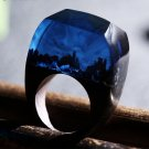 Secret World Wood Resin Ring Women's Sizes 6-9- Endless August