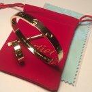 Cartier 18k Yellow Gold Love Bracelet & Love Ring Bundle