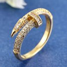 Juste Un Clou 18K Yellow Gold & CZ Ring