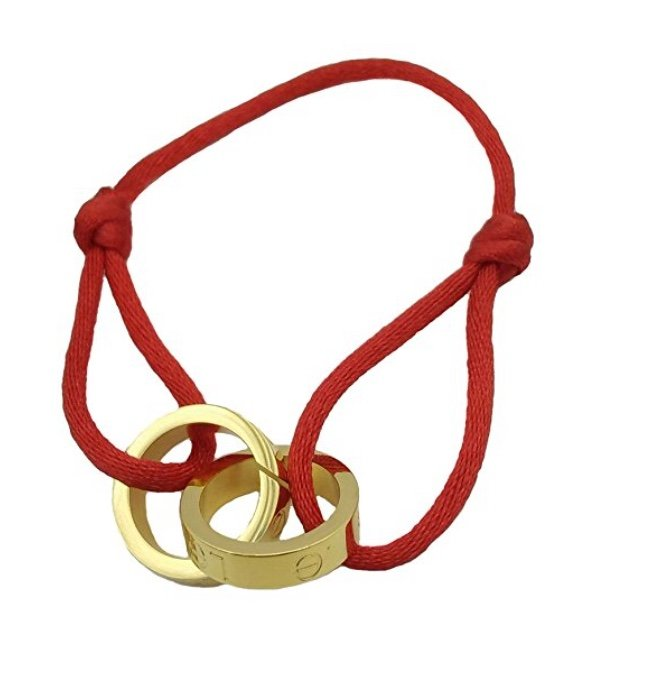 Cartier Double Love Red Cord Rope Bracelet
