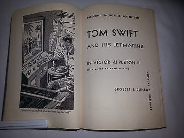 RARE 1954 Tom Swift and His Jet Marine By Victor Appleton HC Collectible Vintage