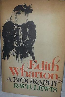 Rare 1975 EDITH WHARTON Biography RWB LEWIS Female Author Yale 1st Printing Vtg