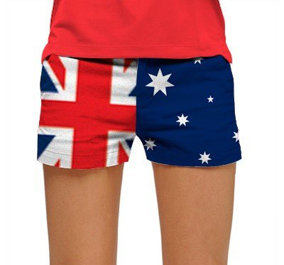 Loudmouth golf MINI shorts TRUE BLUE size 8 red blue white 2085