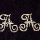 Monogram on the shoulder straps of the Cossack Ataman TSAR RUSSIA #10832