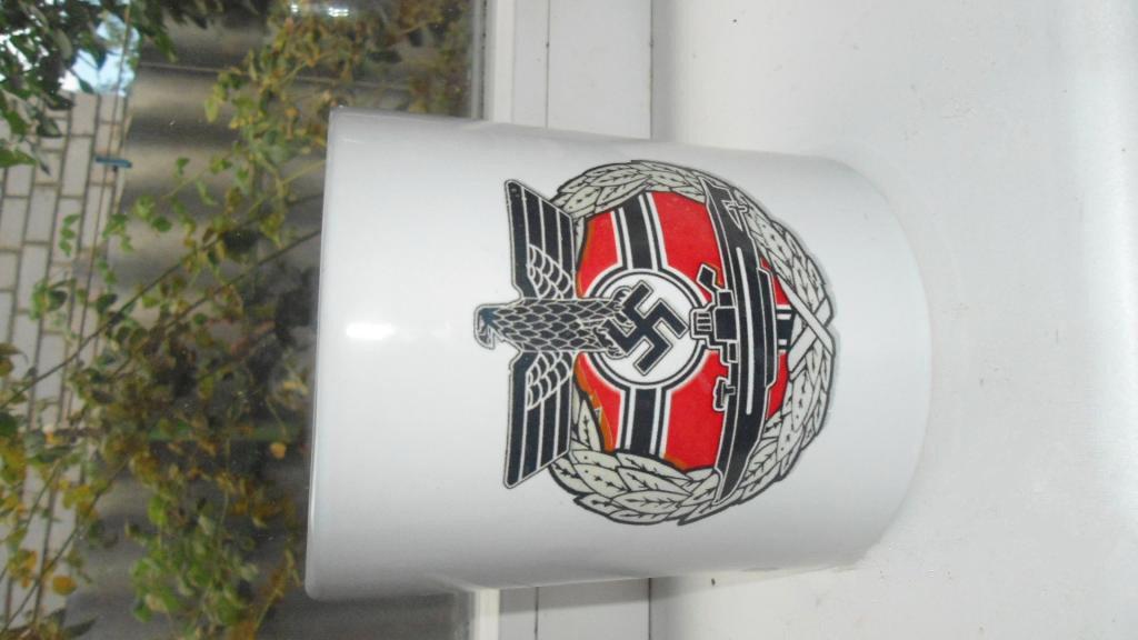 World War II Germany wineglass glass of beer 850 ml., a cup, cross  #12