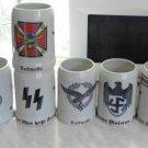 World War II Germany KIT beer glasses 8 pcs a cup, cross  #13