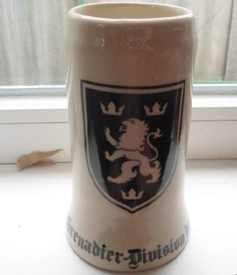 World War II Germany wineglass glass of beer, a cup, cross  #1