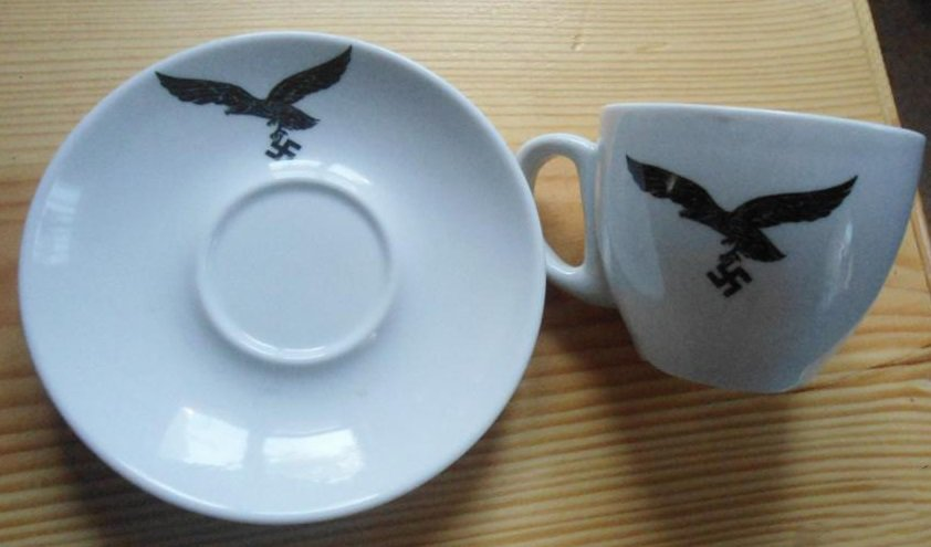 World War II Germany coffee cup and saucer set #15