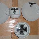 World War II Germany coffee cup and saucer and ashtray set  #30