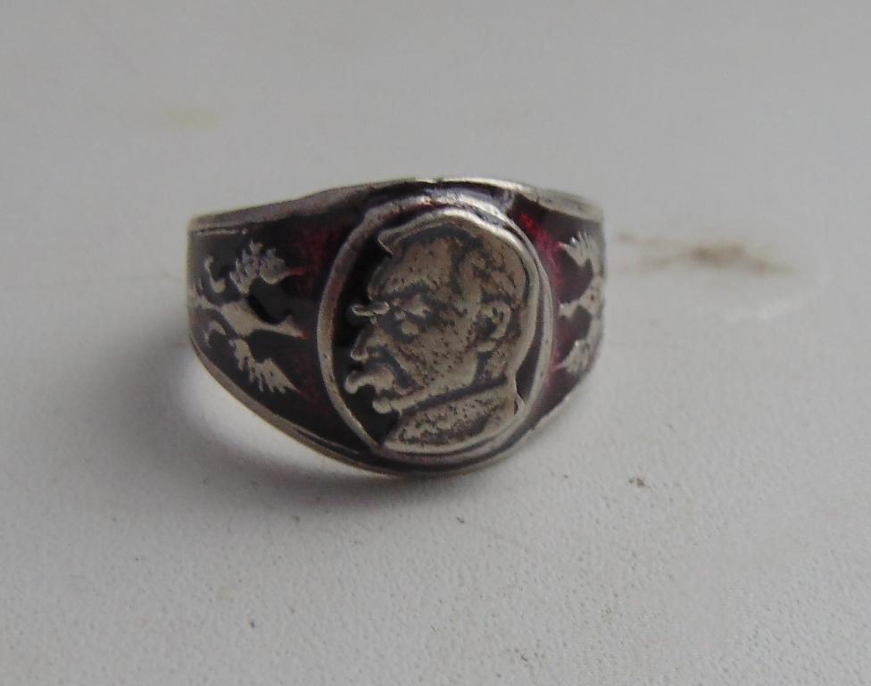Ring Jozef Pilsudski silver 800 Poland #12