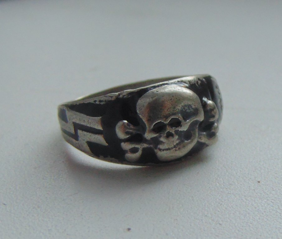 ring with a skull Alpine arrow silver 800 #17