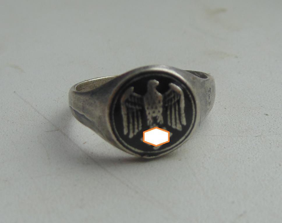 Ring Eagle  silver 800  #25