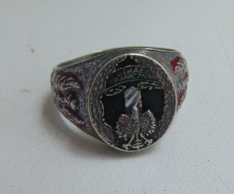 ring with a Polish eagle STRAZ GRANICZNA #59\2