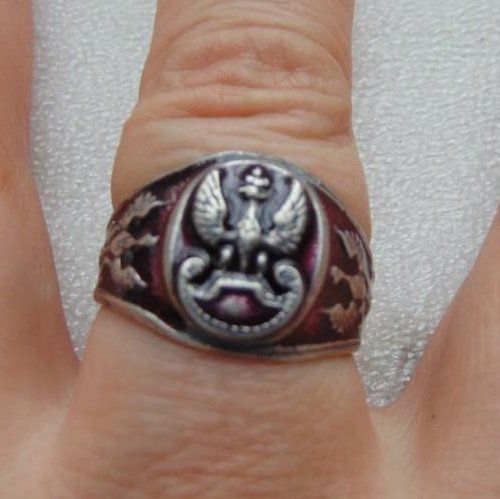 ring with a Polish eagle  #66