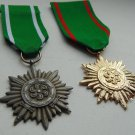 WW II THE GERMAN BADGE LW WH 2 Cross for Bravery and Merit with Swords