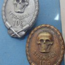 WW II THE GERMAN BADGE LW WH STURMBAON 106