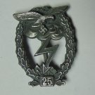 "WW II THE GERMAN BADGE LW WH sign for ground battle ""25"""