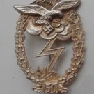 "WW II THE GERMAN BADGE LW WH sign for ground battle ""50"""
