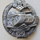 WW II THE GERMAN BADGE LW WH Qualifying badge For 25 tank attacks