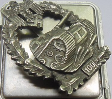 WW II THE GERMAN BADGE LW WH Qualifying mark Over 100 tank attacks